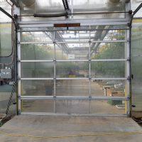 10x10 Aluminum framed Plexi Glass Garage Door.