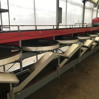 Aweta SK1 Cucumber Packing Line with Vision Grader and Crate Dump