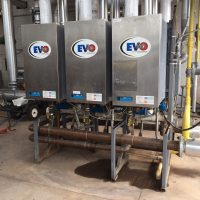 EVO-Duo 6-pack fully condensing boilers.