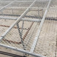 Greenhouse Galvanized Rolling Benches with expanded metal